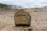 Geyser, Dead Gusher, Eponym for All Geysers in the World Photographic Print by Catharina Lux