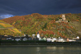 Castle Gutenfels High over the River Rhine, Autumn Photographic Print by Uwe Steffens