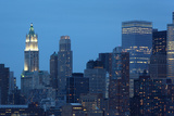 USA, New York City, Manhattan, Financial District, Evening Photographic Print by Catharina Lux