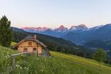 View from Vorderstoder to Totes Gebirge, Region Pyhrn-Priel, Upper Austria, Austria Photographic Print by Gerhard Wild