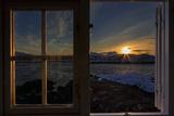 Sunrise Seeing Through Window, Reinefjorden, Moskenes, Lofoten, Norway Reprodukcja zdjęcia autor Dieter Meyrl