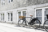 Bicycle Leaning Against Wall, City, Copenhagen, Denmark, Scandinavia Photographic Print by Axel Schmies