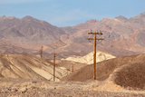 USA, Death Valley National Park, Power Poles Photographic Print by Catharina Lux