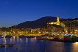 France, Cote D'Azur, Menton, Harbour, Evening Photographic Print by Chris Seba