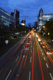 Street, Rush-Hour Traffic, Mobility, Dusk, Theodor-Heuss-Allee Photographic Print by Axel Schmies