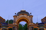 Tivoli, Main Entrance Early in the Evening, Copenhagen, Denmark, Scandinavia Photographic Print by Axel Schmies