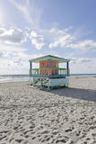 Beach Lifeguard Tower '14 St', Typical Art Deco Design, Miami South Beach Photographic Print by Axel Schmies
