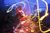 Light Trails, Traffic, Abstract, Dynamic, Rush-Hour Traffic Photographic Print by Axel Schmies