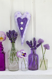Lavender, Blossoms, Pansies, Chives Blossoms, Heart Photographic Print by Andrea Haase