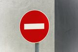 Sign, No Entry, One-Way Street Photographic Print by Catharina Lux