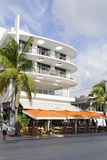 Cafe 'Medi', Art Deco Hotel, Ocean Drive, South Miami Beach, Art Deco District, Florida, Usa Photographic Print by Axel Schmies
