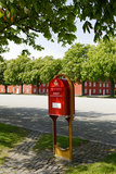 Red Mailbox, Copenhagen, Denmark, Scandinavia Photographic Print by Axel Schmies