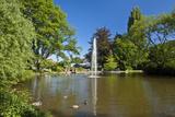 Germany, Hessen, Northern Hessen, Reinhardshausen, Health Resort Park, Pond Photographic Print by Chris Seba