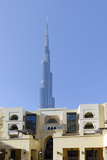 Souk Al Bahar and Burj Khalifa, Downtown Dubai, Dubai, United Arab Emirates Photographic Print by Axel Schmies