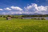 Germany, Bavaria, Upper Bavaria, Pfaffenwinkel, Egling by the Riegsee Lake Photographic Print by Udo Siebig