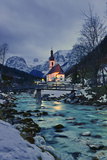 Church St Sebastian in Ramsau Photographic Print by Stefan Sassenrath