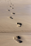 Beach, Footprints in the Sand Photographic Print by Catharina Lux