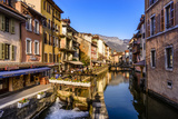 France, Rh™ne-Alpes, Haute-Savoie, Annecy, River Thiou, Old Town Photographic Print by Udo Siebig