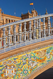 Spain, Andalusia, Seville, Plaza De Espana, Bridge, Puente De Castilla, Close-Up Photographic Print by Chris Seba