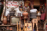 Egypt, Cairo, Islamic Old Town, Shop, Junk Photographic Print by Catharina Lux