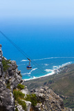 South Africa, Cape Town, View from the Table Mountain, Cableway Photographic Print by Catharina Lux