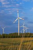 Europe, Germany, Saxony-Anhalt, Magdeburg Bšrde, Wind Turbines Fotodruck von Chris Seba