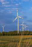 Europe, Germany, Saxony-Anhalt, Magdeburg Bšrde, Wind Turbines Photographic Print by Chris Seba