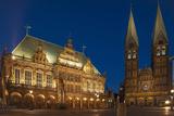 City Hall, Cathedral, Rathausplatz, Bremen, Germany, Europe Photographic Print by Chris Seba