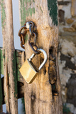 Gate, Padlock Photographic Print by Catharina Lux