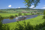 Germany, Lower Saxony, Weser Uplands, Weser Cruise Vessel Photographic Print by Chris Seba