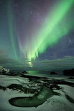Norway, Lofoten, Utakleiv, Coast, Polar Light, Aurora Borealis, Norwegian Sea Photographic Print by Stefan Hefele