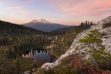 The USA, America, Mt Shasta, Mountain, Lake, Heart Lake, California, Light, Colour, Atmosphere Photographic Print by Stefan Hefele