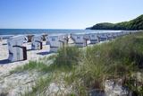 Germany, the Baltic Sea, Western Pomerania, Island RŸgen, Seaside Resort Binz, Beach Chairs Photographic Print by Chris Seba