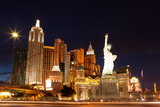 USA, Las Vegas, Hotel 'New York New York', Evening Light Photographic Print by Catharina Lux