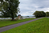 Germany, Brandenburg, Oder-Neisse Cycle Route, Ratzdorf, Water Level Hut Photographic Print by Catharina Lux
