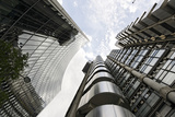 Modern Architecture, Lloyd'S, Lloyds Building, Tower by Architect Richard Rogers, London Photographic Print by Axel Schmies