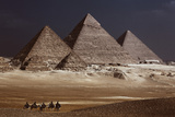 Egypt, Cairo, Pyramids of Gizeh by Night Photographic Print by Catharina Lux