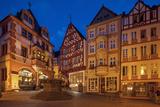 Europe, Germany, Rhineland-Palatinate, Bernkastel-Kues, Saint Michael's Fountain on Market Place Photographic Print by Chris Seba