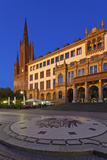 Europe, Germany, Hesse, Stone Mosaic Kaiseradlerwappen Infront of Townhall and Cathedral Photographic Print by Chris Seba