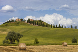 Europe, Italy, Tuscany, Landscape in Le Crete Photographic Print by Gerhard Wild