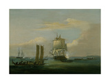 Captain Bligh in Torres Strait Ii 1792 Giclee Print by Thomas Luny