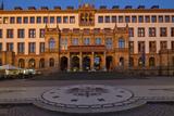 Europe, Germany, Hesse, Wiesbaden, Townhall, Stone Mosaic Kaiseradlerwappen Photographic Print by Chris Seba