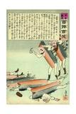 Russian Battleship Casualties Giclee Print by Kobayashi Kiyochika