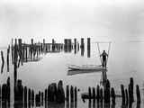 Oyster Tonger, Tilghman Island, Maryland Photographic Print by A. Aubrey Bodine