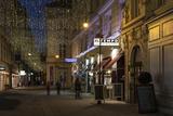 Austria, Vienna, Wallnerstra§e, Pedestrian Area, Christmas Lighting, Restaurant Photographic Print by Gerhard Wild