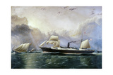 U.S. Mail Ship Crescent City Giclee Print by James Edward Buttersworth