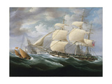 Frigate Entering Gibraltar Harbor Giclee Print by Thomas Buttersworth