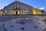 Europe, Germany, Hesse, Wiesbaden, Hessian Landtag, Stone Mosaic Kaiseradlerwappen Photographic Print by Chris Seba