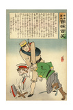 Japan Forcing Russia to Disgorge Her Brave Threats Giclee Print by Kobayashi Kiyochika