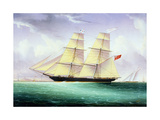 Merchant Brig America Off Boston Giclee Print by John O'brien